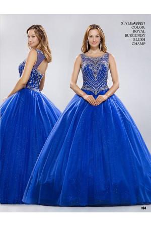 Anny №AB8851 синее с открытой спиной