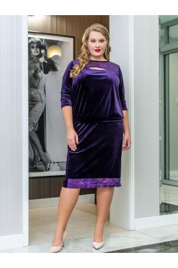 BAF002B фиолетовый женский костюм для полных девушек