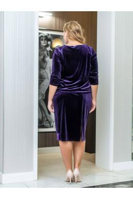 BAF002B фиолетовый женский костюм для полных девушек_2