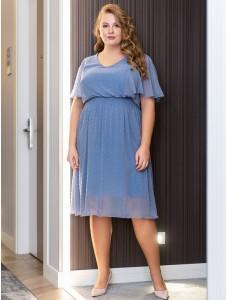 BAF005B голубое в горошек To Be Bride в греческом стиле
