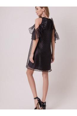 161001 стильное черного цвета в горошек от дизайнера OLGA SKAZKINA_2