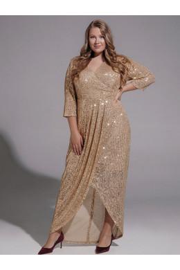 BAF019B нарядное винтажное золотого цвета