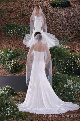 Фата 27 для невесты длинная