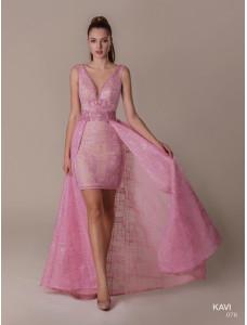 KaVi 076 короткое розового цвета