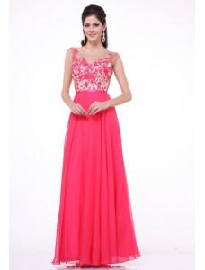 Модель №31 розовое с цветочным орнаментом А-силуэта