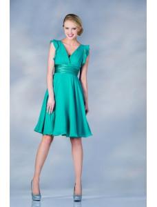 Модель №6 короткое изумрудно-зеленое