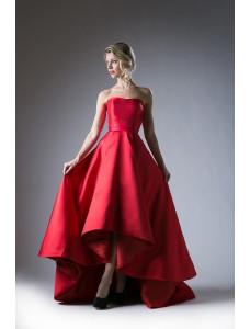 Модель №1 красного цвета с длинной юбкой