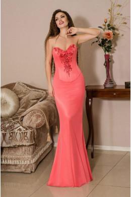 Модель №29 розовое облегающее с корсетом