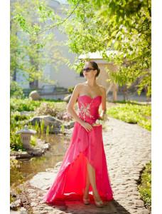 Модель №3 розовое с открытыми плечами