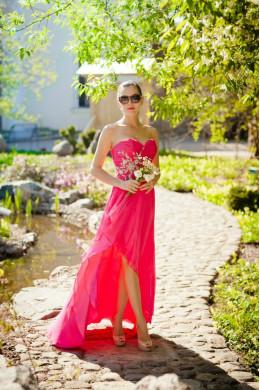 Модель №3 розовое с открытыми плечами_2